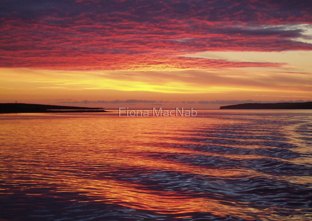 Eynhallow Sunset by Fiona MacNab