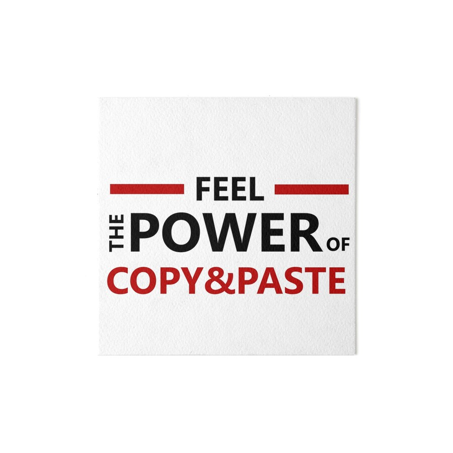 copy and paste art
