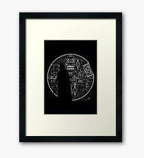 Darth Vader Death Star  Framed Print