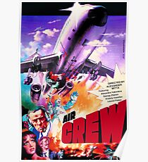 Vintage poster of Soviet blockbuster Aircrue for US and Europe Poster
