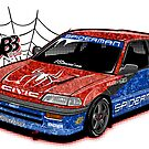 Civic EF3 - Spiderman livery - Sticker by BBsOriginal