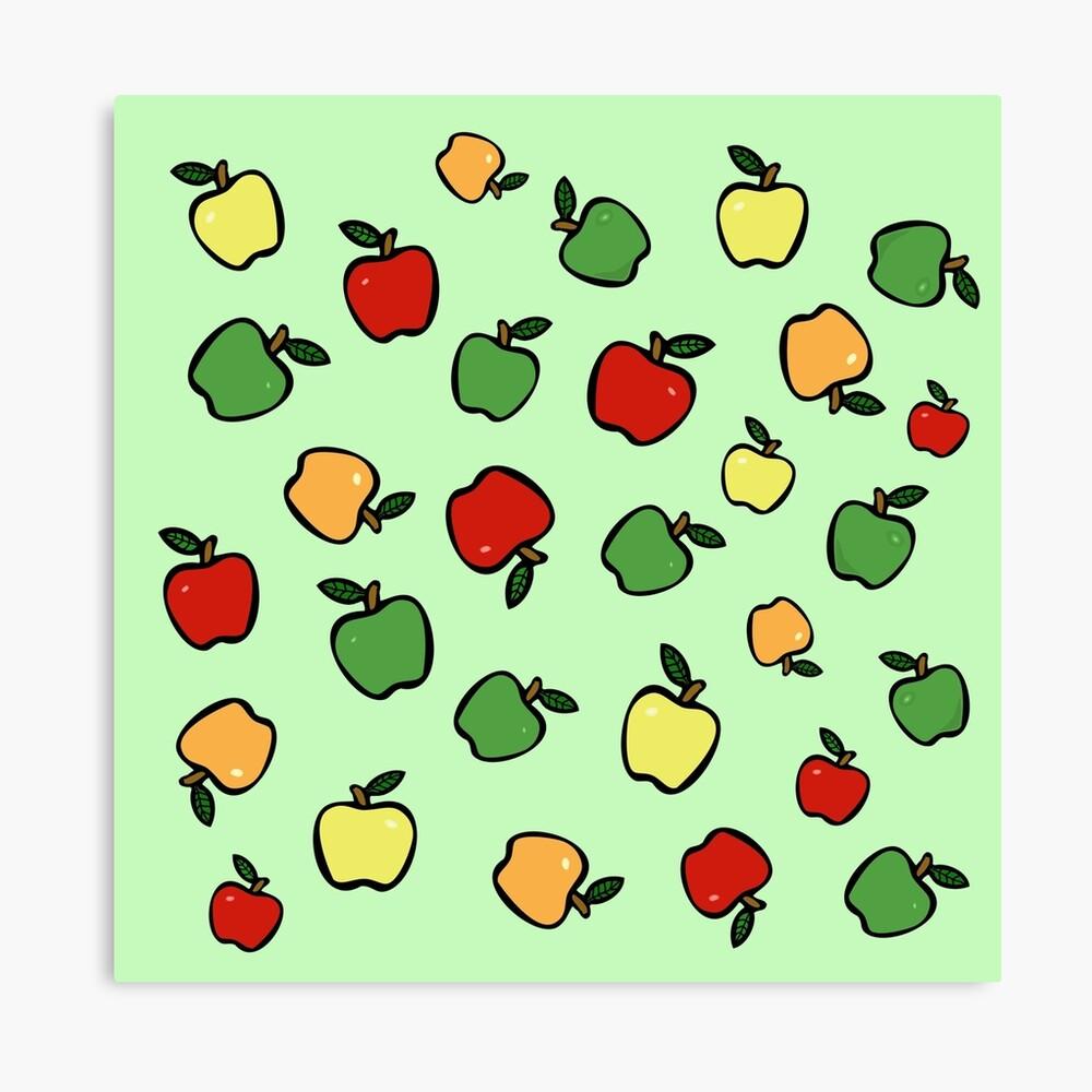 Äpfel! Leinwanddruck