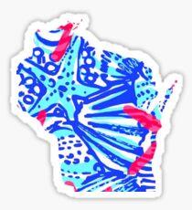 Lilly Pulitzer Wisconsin State Inspired  Sticker