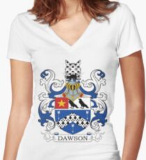 Dawson Coat of Arms Women's Fitted V-Neck T-Shirt