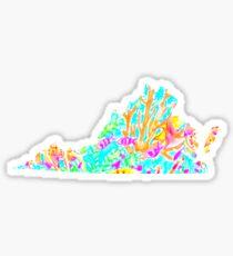 Lilly Pulitzer Virginia State Inspired  Sticker