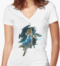 Link Breath of the Wild Women's Fitted V-Neck T-Shirt