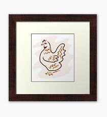 Strutting Rooster-Mr Brown Framed Print