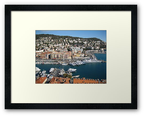 A beautiful seaport in the South of France by dolphin