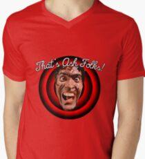 Evil Dead/Ashley Williams. That's Ash Folks! Mens V-Neck T-Shirt