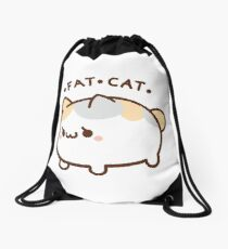 Fat Cat Drawstring Bag