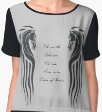 We Are the Rohirrim Chiffon Top