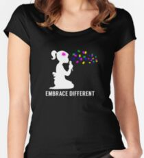 Embrace Different - Autism Awareness Women's Fitted Scoop T-Shirt