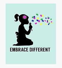 Embrace Different - Autism Awareness Photographic Print