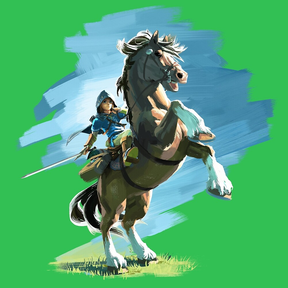 Link and Epona Breath of the Wild by ciccioDeeamci