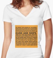 Guns and Ships Rap  Women's Fitted V-Neck T-Shirt