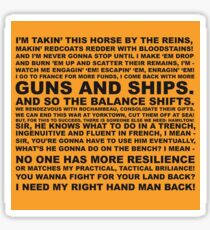 Guns and Ships Rap  Sticker