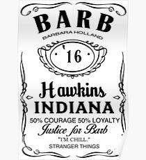 Barb (Black on White) Poster