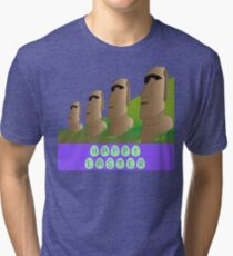 Happy Easter Island Tri-blend T-Shirt
