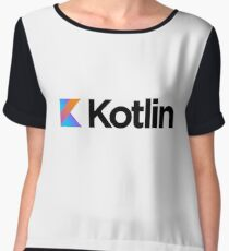 Kotlin programming language logo Women's Chiffon Top