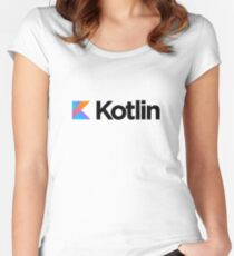 Kotlin programming language logo Women's Fitted Scoop T-Shirt