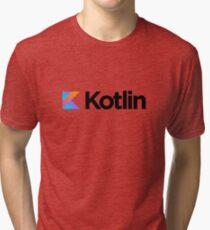 Kotlin programming language logo Tri-blend T-Shirt