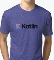 Kotlin programming language logo Tri-blend T-Shirt