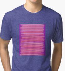 Springtime Blush Pink Brush Strokes Tri-blend T-Shirt