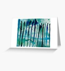 Water Fence Greeting Card