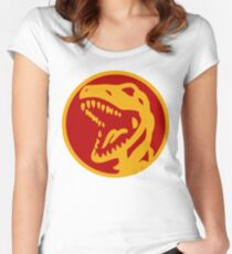 Dino Red Women's Fitted Scoop T-Shirt