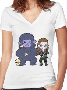 Lexa and Pauna Women's Fitted V-Neck T-Shirt
