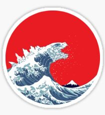 The Great Wave of Kaiju Sticker