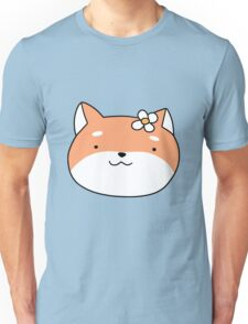 Flower Shiba Face Unisex T-Shirt