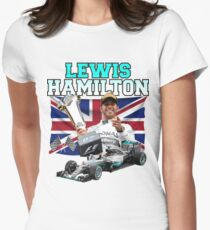 Lewis Hamilton F1 Womens Fitted T-Shirt