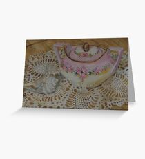 German Sugarbowl and Shell Greeting Card