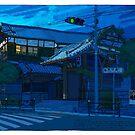 Blue Temple Nezu by David  Kennett