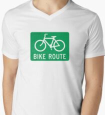 Bike Route Sign T-Shirt
