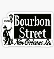 Bourbon Street New Orleans Vintage Travel Decal Sticker