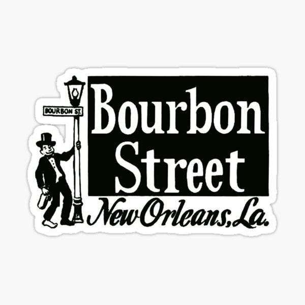 Bourbon Street New Orleans Vintage Travel Decal Sticker