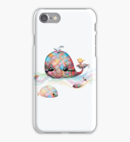Patchwork Whale iPhone Case/Skin