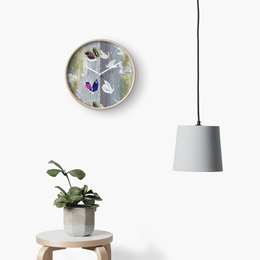 Beautiful butterflies.Impressionism Clock
