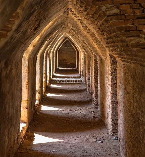 Myanmar. Ava. Maha Aung Mye Bon Zan Monastery. Dead End. by vadim19