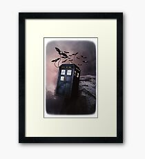Flying Blue Box In Space Hoodie / T-shirt Framed Print