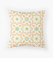 Old floral tiles Throw Pillow
