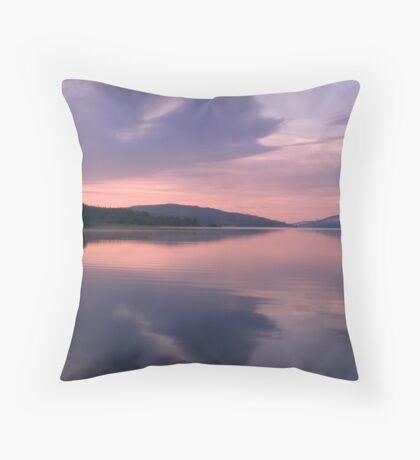 Symmetrical Sunrise, Loch Rannoch Throw Pillow