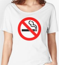 No Smoking Women's Relaxed Fit T-Shirt