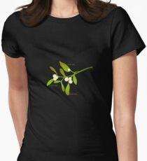 Kiss me mistletoe Womens Fitted T-Shirt