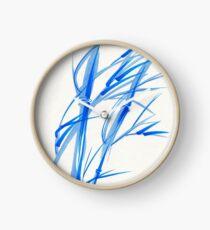 SOFT BREEZE - Original watercolor ink wash painting Clock