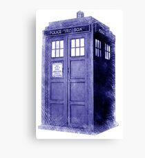 Blue Box Hoodie / T-shirt Canvas Print