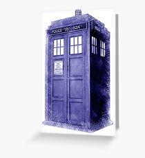 Blue Box Hoodie / T-shirt Greeting Card