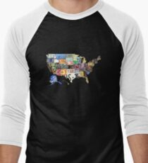 USA vintage license plates map T-Shirt